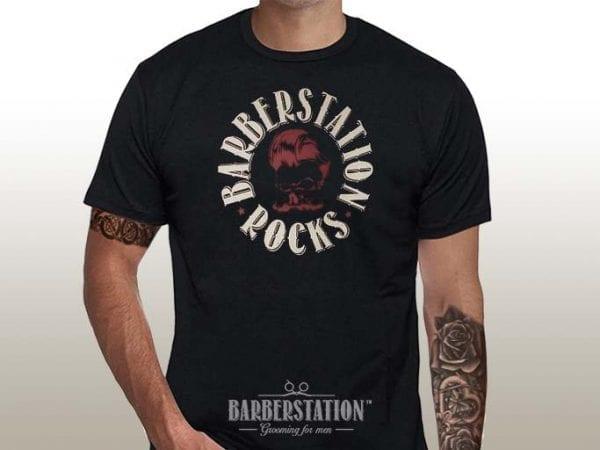 Barberstation rocks t-shirt